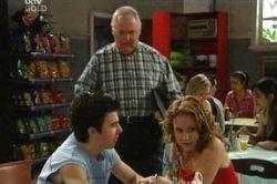 Stingray Timmins, Harold Bishop, Serena Bishop in Neighbours Episode 4671