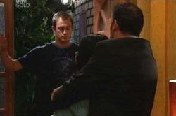Stuart Parker, Carmella Cammeniti, Frank Romano in Neighbours Episode 4672