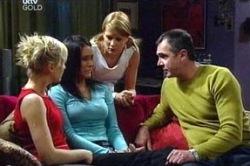 Karl Kennedy, Sindi Watts, Carmella Cammeniti, Izzy Hoyland in Neighbours Episode 4672