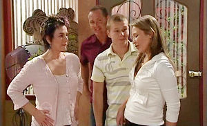 Lyn Scully, Max Hoyland, Boyd Hoyland, Steph Scully in Neighbours Episode 4820