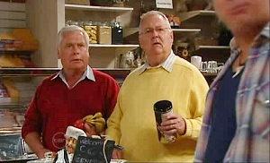Lou Carpenter, Harold Bishop, Joe Mangel in Neighbours Episode 4825