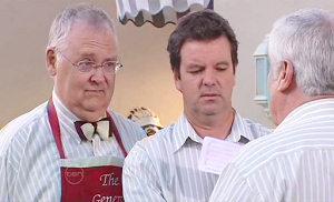 Harold Bishop, Lou Carpenter, David Bishop in Neighbours Episode 4830