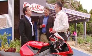 Paul Robinson, Alex Kinski, Karl Kennedy in Neighbours Episode 4835
