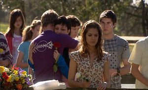 Rachel Kinski, Declan Napier, Ringo Brown, Taylah Jordan, Bridget Parker, Zeke Kinski in Neighbours Episode 5370