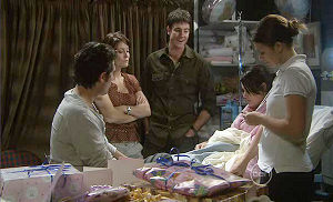Marco Silvani, Rosie Cammeniti, Frazer Yeats, Carmella Cammeniti, Nurse Stacey Cotton in Neighbours Episode 5371