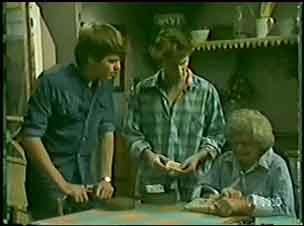 Scott Robinson, Danny Ramsay, Mrs Forbes in Neighbours Episode 0034