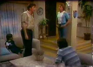 Lucy Robinson, Nick Burman, Shane Ramsay, Paul Robinson in Neighbours Episode 0039