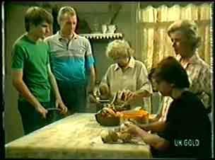 Scott Robinson, Jim Robinson, Mrs Forbes, Helen Daniels, Danny Ramsay in Neighbours Episode 0042