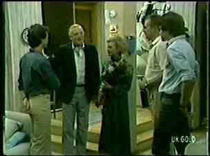 Paul Robinson, Victor Armstrong, Helen Daniels, Jim Robinson, Scott Robinson in Neighbours Episode 0053