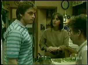 Shane Ramsay, Maria Ramsay, Nick Burman in Neighbours Episode 0053