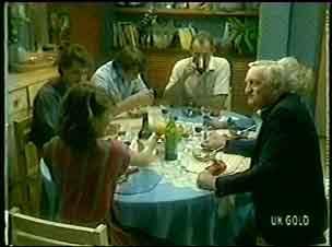 Paul Robinson, Scott Robinson, Jim Robinson, Helen Daniels, Victor Armstrong, Julie Robinson in Neighbours Episode 0053