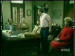 Mr Novak, Mrs Novak, Maria Ramsay, Mr Collins, Mrs Collins in Neighbours Episode 0056