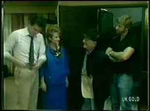 Des Clarke, Daphne Lawrence, Harry Henderson in Neighbours Episode 0058