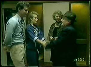 Des Clarke, Daphne Lawrence, Cleo Jones, Harry Henderson in Neighbours Episode 0060