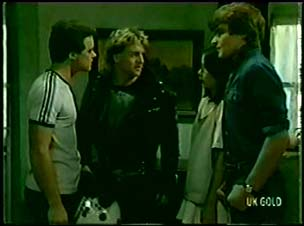 Paul Robinson, Brad, Kim Taylor, Scott Robinson in Neighbours Episode 0060