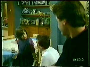 Lucy Robinson, Des Clarke, Paul Robinson in Neighbours Episode 0073