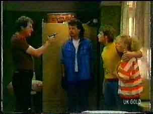 Max Ramsay, Gordon Miller, Shane Ramsay, Terry Inglis in Neighbours Episode 0077