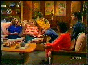 Wendy Gibson, Terry Inglis, Shane Ramsay, Maria Ramsay, Danny Ramsay in Neighbours Episode 0077