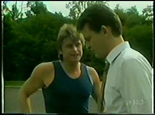 Shane Ramsay, Des Clarke in Neighbours Episode 0079