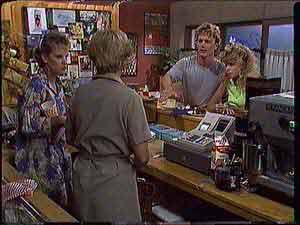 Daphne Clarke, Eileen Clarke, Henry Mitchell, Charlene Mitchell in Neighbours Episode 0431
