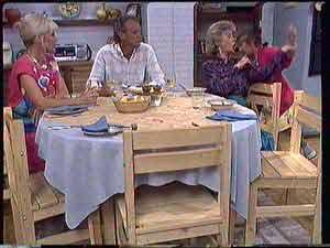 Rosemary Daniels, Jim Robinson, Helen Daniels, Lucy Robinson  in Neighbours Episode 0432
