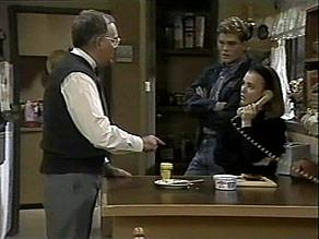 Harold Bishop, Adam Willis, Gemma Ramsay in Neighbours Episode 1480