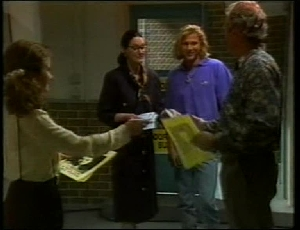 Julie Martin, Dorothy Burke, Brad Willis, Jim Robinson in Neighbours Episode 1815
