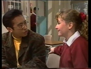 Jonathon Lim, Rick Alessi, Debbie Martin in Neighbours Episode 1942