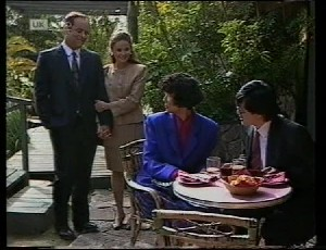 Philip Martin, Julie Martin, Jenny Lim, Raymond Lim in Neighbours Episode 1942