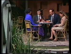 Jenny Lim, Raymond Lim, Philip Martin, Julie Martin in Neighbours Episode 1942