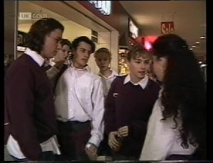 Darren Stark, Rick Alessi, Debbie Martin, Louise Barker in Neighbours Episode 1981