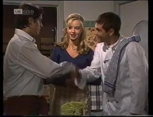 Rick Alessi, Annalise Hartman, Mark Gottlieb in Neighbours Episode 1981
