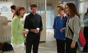 Susan Kennedy, Tom Scully, Lyn Scully, Liljana Bishop in Neighbours Episode 4474