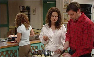 Serena Bishop, Liljana Bishop, David Bishop in Neighbours Episode 4598