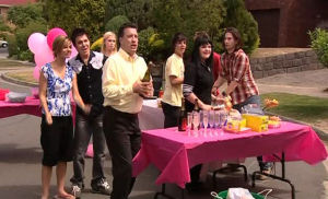 Rachel Kinski, Stingray Timmins, Janae Timmins, Allan Steiger, Zeke Kinski, Bree Timmins, Dylan Timmins in Neighbours Episode 5174