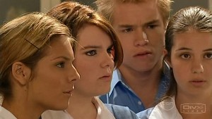Rachel Kinski, Bree Timmins, Ringo Brown, Louise Carpenter (Lolly) in Neighbours Episode 5208
