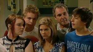 Bree Timmins, Ringo Brown, Rachel Kinski, Karl Kennedy, Zeke Kinski in Neighbours Episode 5213