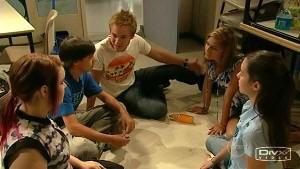 Bree Timmins, Zeke Kinski, Ringo Brown, Rachel Kinski, Louise Carpenter (Lolly) in Neighbours Episode 5213