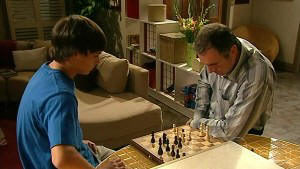 Zeke Kinski, Karl Kennedy in Neighbours Episode 5214