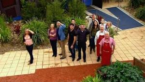 Steph Scully, Miranda Parker, Steve Parker, Frazer Yeats, Karl Kennedy, Toadie Rebecchi, Harold Bishop, Lou Carpenter in Neighbours Episode 5305