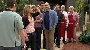 Toadie Rebecchi, Steph Scully, Miranda Parker, Frazer Yeats, Steve Parker, Karl Kennedy, Harold Bishop, Lou Carpenter in Neighbours Episode 5306