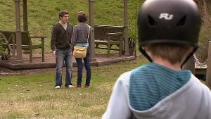 Declan Napier, Bridget Parker, Mickey Gannon in Neighbours Episode 5311