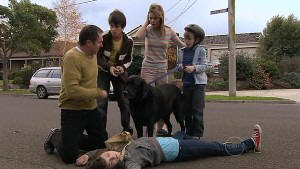 Bridget Parker, Karl Kennedy, Zeke Kinski, Rachel Kinski, Mickey Gannon, Jake in Neighbours Episode 5312
