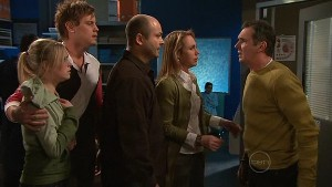 Janae Timmins, Ned Parker, Steve Parker, Miranda Parker, Karl Kennedy in Neighbours Episode 5312