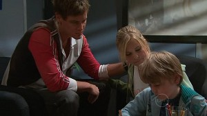 Ned Parker, Janae Timmins, Mickey Gannon in Neighbours Episode 5312