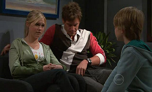 Janae Timmins, Ned Parker, Mickey Gannon in Neighbours Episode 5313