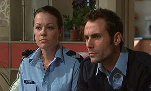 Snr. Const. Sophie Cooper, Adam Rhodes in Neighbours Episode 5313
