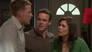 Oliver Barnes, Paul Robinson, Rebecca Napier in Neighbours Episode 5315
