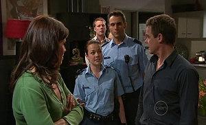 Rebecca Napier, Paul Robinson, Snr. Const. Sophie Cooper, Adam Rhodes, Oliver Barnes in Neighbours Episode 5317