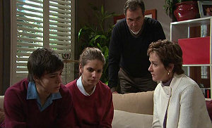 Zeke Kinski, Rachel Kinski, Karl Kennedy, Susan Kennedy in Neighbours Episode 5326
